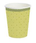 Bio papieren beker, 24 cl, groen design, DUNI ecoecho