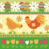 Servet 33x33cm, Hen & Rooster  ** Duni