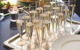 Duni Plastic Wegwerp Champagneglazen - 13,5 cl. - transparant_