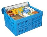 Sunware Vouwkrat met Draaghengsel + Cooltas - 32 liter - blauw/wit_