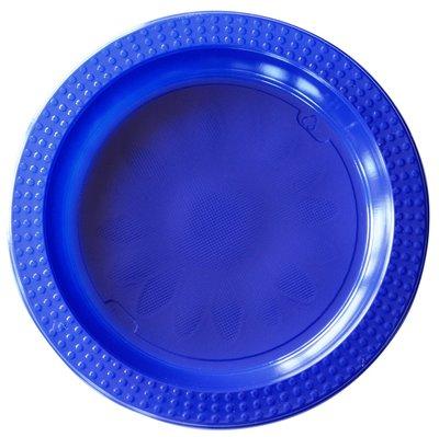 Borden set á 2 stuks Ø 22 cm en Ø 17 cm blauw plastic, Colorix ** Duni