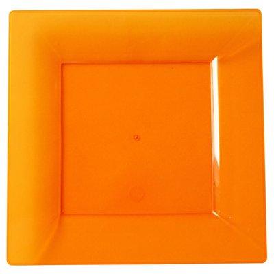 Bord 20,5 cm vierkant Mandarin, plastic, Flair ***Duni