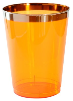 Glazen 25 cl, Mandarin Flair Plastic *** Duni