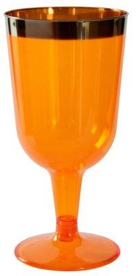 Wijnglazen18 cl  Flair Mandarin , Plastic ** *Duni