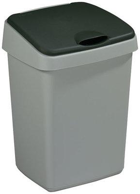 Delta afvalbak 50L, Sunware ,metaal/zwart
