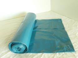 Vuilzakken 70 x 110 cm 60my blauw rol á 20 stuks