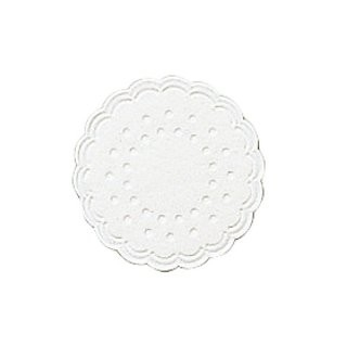 Onderzetter 7,5 cm Ice White
