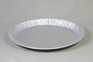 Ronde aluminium wegwerp schaal 25 x 3 cm