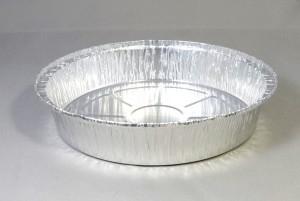Ronde aluminium wegwerp schaal 23,5 x 4,5 cm