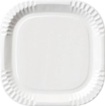 Borden wit plat 22 x 22 cm, Karton, gelamineerd Duni