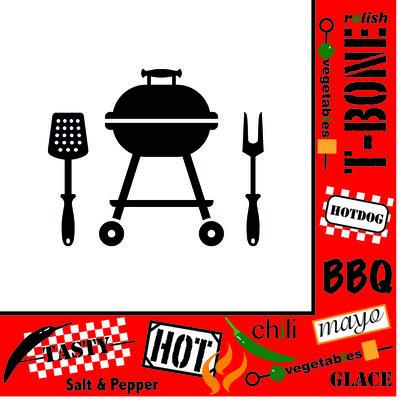 Servet 33x33cm, Barbeque Grill ** Duni