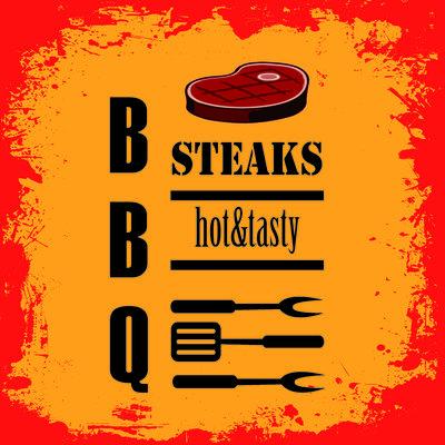 Servet 33x33cm, Barbeque Steaks ** Duni