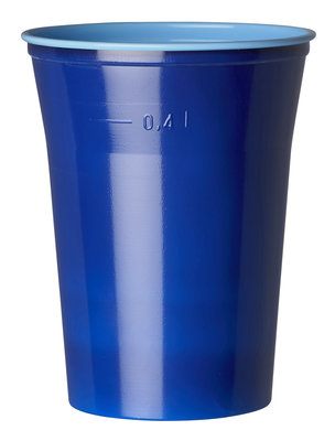 Bekers 50 cl, Colrix blue, Plastic ** Duni