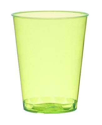 Borrelglazen, shot 4,9 cl, Neon green Plastic ** Duni