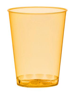 Borrelglazen, shot 4,9 cl, Neon oranje Plastic ** Duni