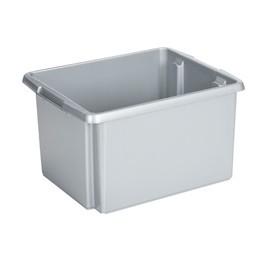 Opbergbox Nesta 45,5 x 36 x 24 cm 32 ltr. zilvergrijs