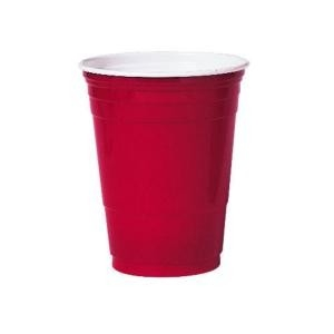 Bekers ca 50 cl, 16 oz Red cup , Plastic Solo
