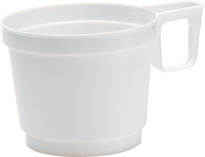 Koffiekopjes wit 8 cl, espresso Plastic wit