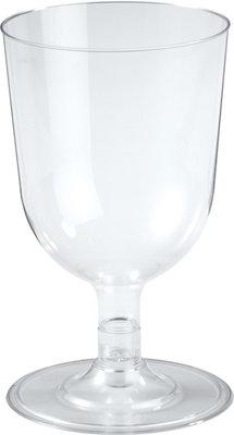 Wijnglazen 15 cl, Plastic, transparant ** Duni