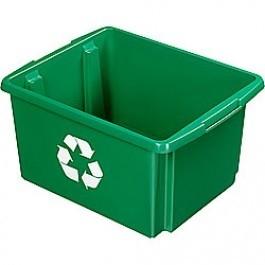 Opbergbox Nesta ECO 45,5 x 36 x 24 cm 32 ltr. groen voor glas