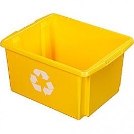Opbergbox Nesta ECO 45,5 x 36 x 24 cm 32 ltr. geel voor metaal/aluminium