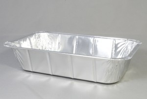 Aluminium wegwerp ovenschaal 26,5 x 16 x 6 cm