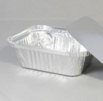 Rechthoekige aluminium wegwerp bakje 14 x 11,5 x 5 cm zonder deksel