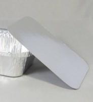 Deksel voor rechthoekige aluminium wegwerp bakje 14 x 11,5 cm
