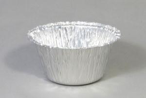 Ronde aluminium wegwerp cups dia 8,5 x hoog 4,5 cm