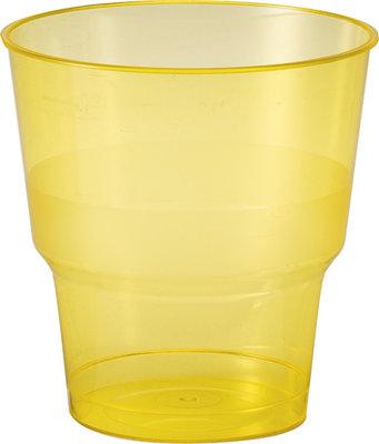 Glazen 25 cl, BBQ Geel Line, Plastic ** Duni