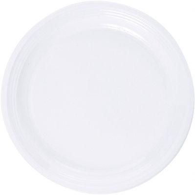 Borden 1-vaks Ø 22 cm, Plastic, wit * Duni
