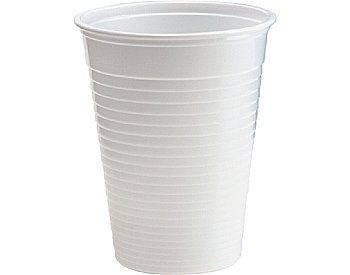 Bekers 20 cl, wit (grootverpakking) Plastic * Duni