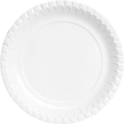 Borden wit plat Ø 15 cm, Karton geplastificeerd Duni