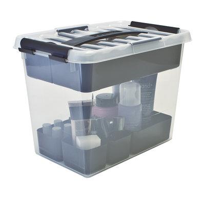 Beautybox 9,0 ltr. transparant/metallic Q-line