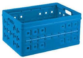 Vouwkrat 32 ltr met handgrepen Sunware blauw