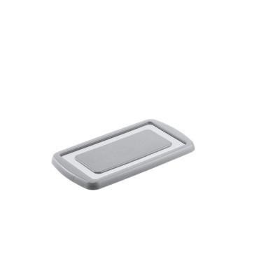 Deksel voor Opbergbox Nesta 390 x 215 x 20 mm, 7 ltr. zilver grijs