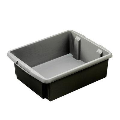 Opbergbox Nesta 45,5 x 36 x 14,5 cm 17 ltr. zilver grijs