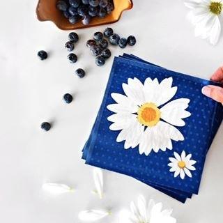 Servet 24x24cm, My daisy Blue  ** Duni