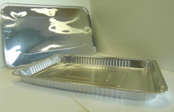 Platte aluminium wegwerp schaal ca 52,5x32x4 cm 1/1 gastro 38h (full shallow) zonderv deksel