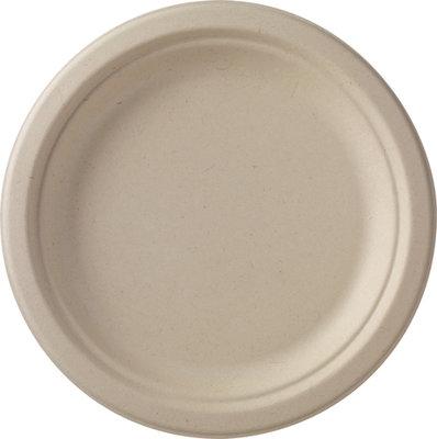 Borden wit plat Ø 24 cm, Bagasse Eco Echo