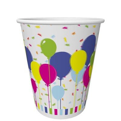 Papieren beker 20 cl. Ballons and Confetti Duni