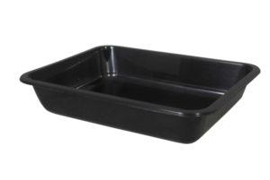 Plastic Menu tray zwart zonder deksel