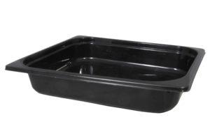 Plastic bakje zwart zonder deksel
