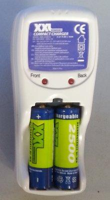 Batterijoplader incl. 2 penlite AA2500 mA batterijen