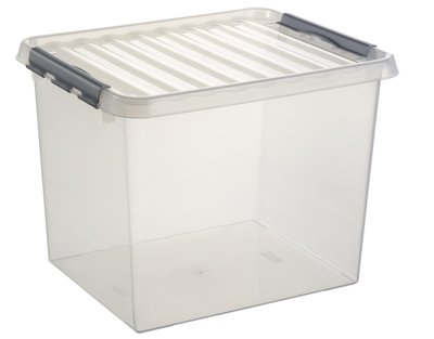 Kunststof Opbergbox 52 liter met klemdeksel, Sunware Q-line