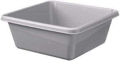 Wasbak 10 Liter , zilver/grijs