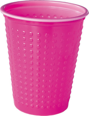 Bekers 20 cl, Colrix hot pink, Plastic ** Duni