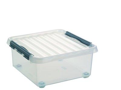 Kunststof Opbergbox met Wielen 18 liter, Sunware Q-line