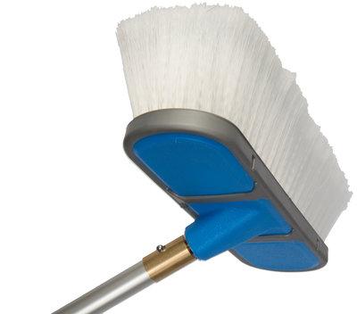 Waterdoorlatende borstel 25 cm blauw