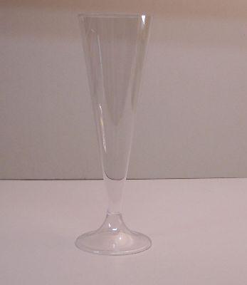 Plastic Champagneglazen 130 cc.